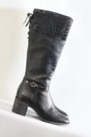 Geox - Hoge zwart lederen laarzen - Mt 39,5 & 40