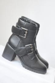 Buffalo - Zwart lederen laarzen met gespen - Mt 40