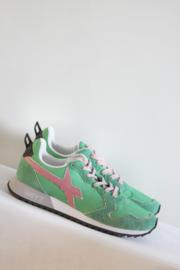 W6YZ - Groen roze lederen sneakers - 41