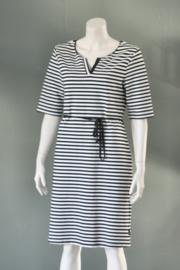 Didi - Zwart wit gestreept jersey jurkje - Mt XL / 44