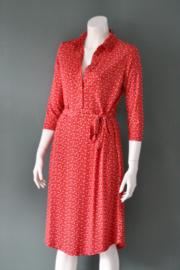 Elie Tahari - Rode shirt dress met stippen - Mt M
