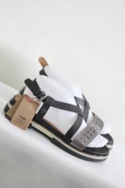 Wrangler - Zwart grijs lederen sandalen - Mt 40