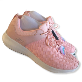 Skechers - Roze gevlochten foam sneakers - Mt 40