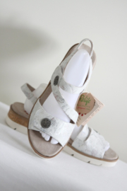 Relife - Wit lederen klittenband sandalen - 42