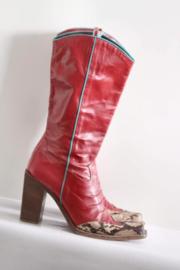 Sacha - Rood lederen cowboy boots - Mt 39