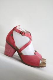 El Naturalista - Roze rood nubuck lederen sandalen - Mt 40