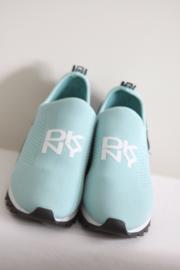 DKNY - Turquoise elastische instappers - Mt 42