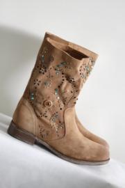 San Marina - Bruin suede boots met stenen - Mt 37