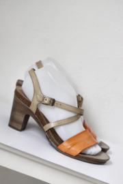 Megabios - Bruin oranje lederen sandalen - Mt 39