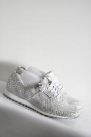Hassia - Zilver metallic lederen sneakers - Mt 44 / 10 - H