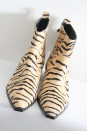 Bershka - Bruin zwart harige tijgerprint laarsjes - 37