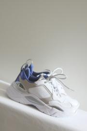 Guess - Wit blauw lederen sneakers - 35