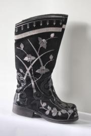 Beverly Feldman - Zwart zilver geborduurde laarzen - Mt 39,5