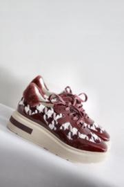 Manuel Barcelo - Rood beige sneakers met print - Mt 38