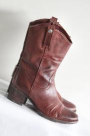 Pakros - Warm rood lederen boots - Mt 41