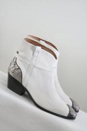 Custommade - Wit lederen snake skin boots - 41