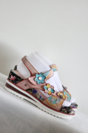 Nina Vita - Zacht roze sleehak sandalen -Mt 39