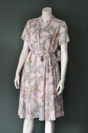 Nanette Lepore - Zacht roze gebloemde shirt dress - Mt 40-42/14