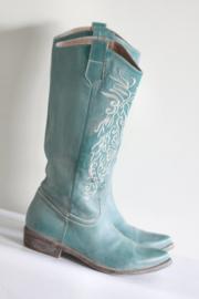 Méliné - Turquoise groen geborduurde laarzen - Mt 37