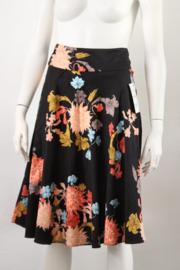 Nieuw! Zara - Zwart gebloemde rok met strik - Mt XS