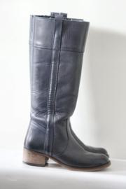 Monshoe - Hoge donkerblauw lederen boots - Mt 38