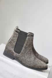 Maruti - Bruine paardenhaar laarsjes met print - Mt 42
