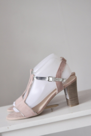 Nieuw! Caprice - Zacht roze suede t-strap sandalen - Mt 39