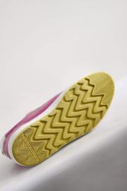 Floris van Bommel - Roze lederen klittenband sneakers - Mt 37