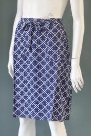 King Louie - Royal Blue Rosa Skirt Seaside - Mt 38