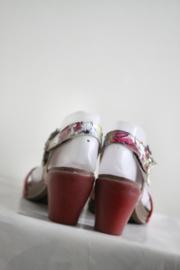 ART - Rood lederen sandalen met print - Mt 38
