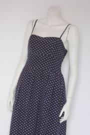 Carousel - Donkerblauw beige vintage swing dress - Mt 36