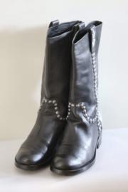 Beverly Feldman - Zwart lederen boots met studs - Mt 37