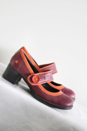 ART - Roze oranje lederen pumps - Mt 40