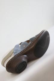 Josef Siebel - Blauw lederen sandalen - Mt 41