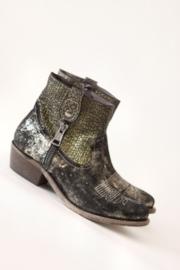 Philippe Morvan - Zwart zilver lederen cowboy boots - Mt 37