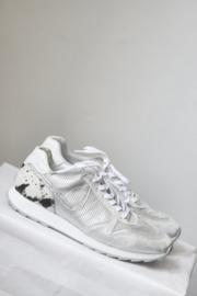 PostXChange - Zilver grjis lederen sneakers - Mt 40