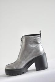 Kendall + Kylie - Zilver lederen platform boots - Mt 38,5