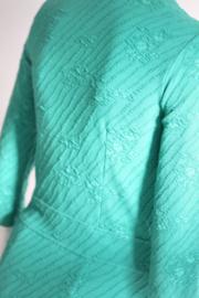 Wow to Go! Groene pencil dress met motief - Mt M