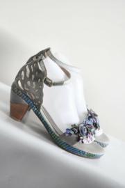 Laura Vita - Grijs blauw lederen Beline sandalen - Mt 39 & 40