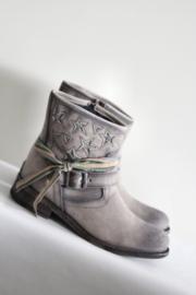 Lazamani - Grijs bruine boots met sterren - Mt 41