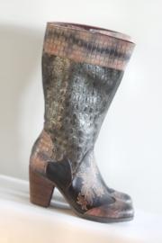 Laura Vita - Hoge lederen laarzen met print - 38