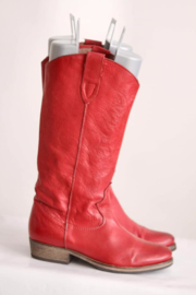 Sacha - Rood lederen cowboy boots - Mt 38