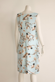 Smashed Lemon - Licht blauwe pencil dress met bloesem print - Mt 44