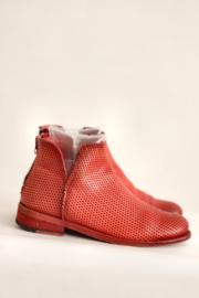 Felmini - Korte rood lederen enkellaarsjes - Mt 39