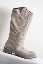 Méliné - Beige lederen cowboy boots - Mt 40
