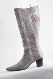 La Bottinière - Licht grijs suède geborduurde laarzen - Mt 38