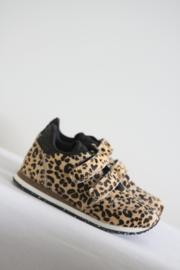 Woden - Bruin zwart tijgerprint sneakers - Mt 34