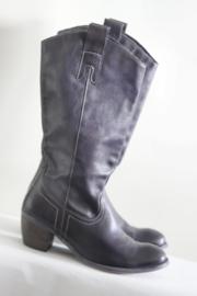 Felmini - Donkerpaarse lederen boots - 39