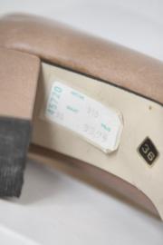 Selected Style - Beige lederen vintage pumps - Mt 36