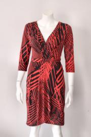 Almatrichi – Rood zwart faux wrap dress – Mt 38